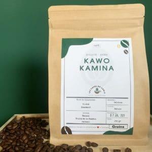 paquet cafe grains kawo kamina ethiopie