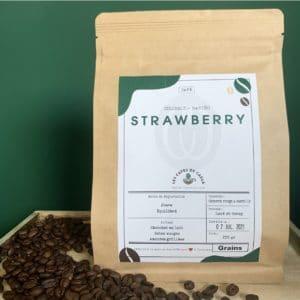 paquet café grains strawberry colombie