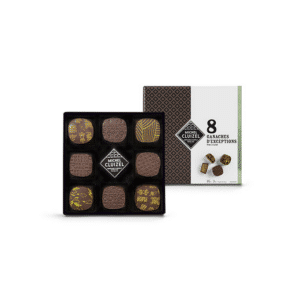 coffret 8 chocolats fourrés ganaches